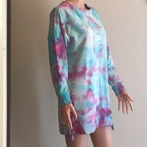 Size medium Sweatshirt Mini Dress Tie dye